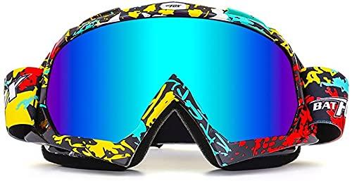 ZLYJ Gafas De Motocicleta Motocross Cubierta De Polvo De Viento Gafas De Aviador Gafas De Snowboard Gafas De Nieve Gafas De Esquí Gafas De Deportes De Invierno D