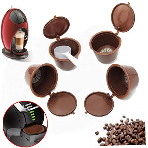 Aisoway Nachfüllbar Kaffee-Kapsel Wiederverwendbare Kaffee-Kapsel mehr als 200 Mal Kaffeepads 40pcs