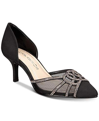 Caparros Panzy Evening Pumps Women's Shoes Black Faille/Tint 5M