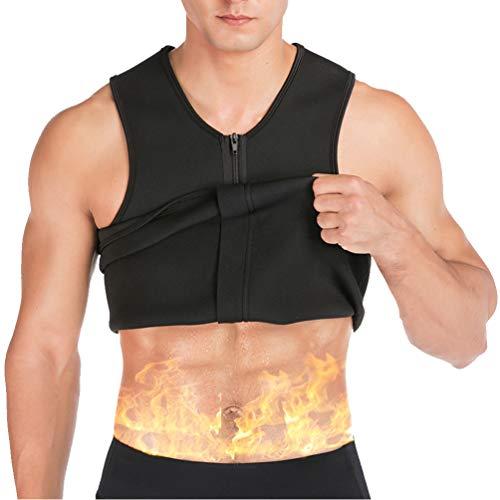 Männer Taille Trainer Weste Neopren Weste Abnehmen Shirt für Gewichtsverlust Body Shaper Sauna Tank Top Workout Shirt