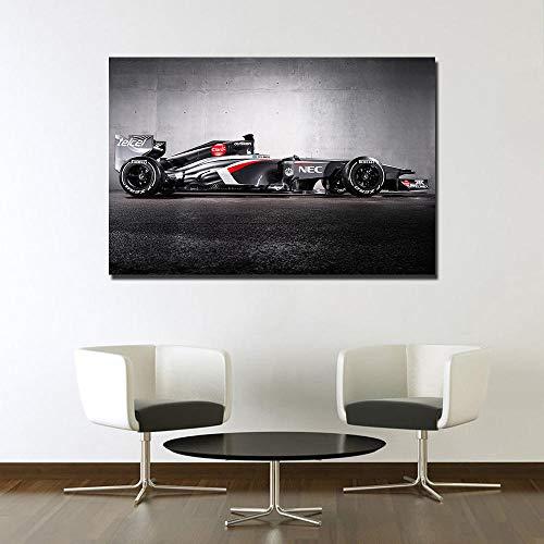 VVSUN Póster de Coche de Carreras F1, Pintura Impresa en Lienzo, imágenes artísticas de Pared para decoración de Sala de Estar, 60X90cm, 24x36 Pulgadas, sin Marco