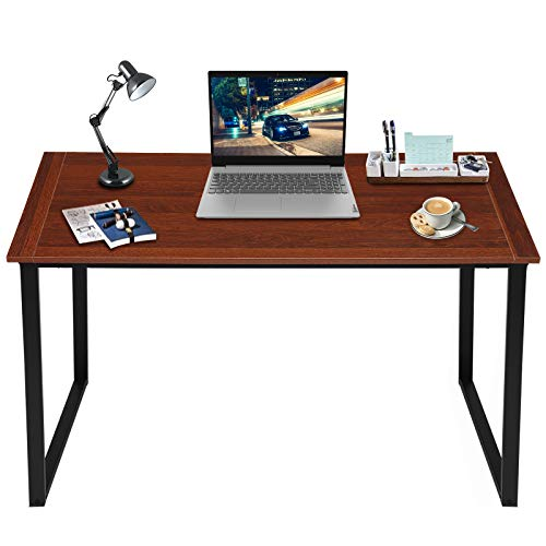 "KingSo 47"" Metal Frame Wood Computer Desk $41.99"