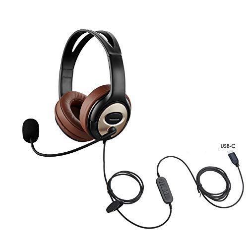 Auriculares USB tipo C con micrófono con cancelación de ruido y conector USB C para PC Mac Tablet, compatible con Windows Android Mac, para Smsung S20, Note 10/10+, iPad Pro 2020, iPad, Huawei, Google