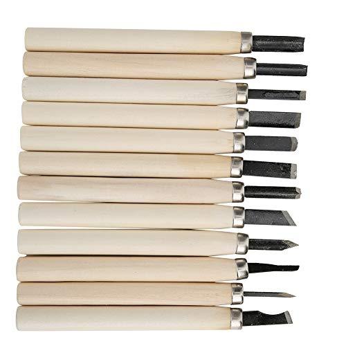 Kit de Herramientas para tallar, 12 Piezas Mango de Madera...