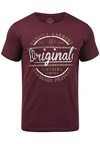 JACK & JONES Joey Herren T-Shirt Kurzarm Shirt mit Print und Rundhalsausschnitt aus 100{bb79b3411e898dc91a378a15edb87a9f39a85ad69788e527c962d2335baed944} Baumwolle, Größe:M, Farbe:Port Royale