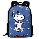 Mei-shop Mochila Informal Personalizada Sn-oopy Mochila Escolar de Viaje Gift-66L