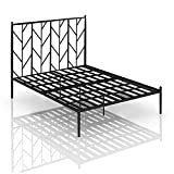 KJFSTJHMM Double Metal Bedroom Wrought Iron Double Bed, 1.5m Bed Frame Simple Iron Bed Apartment Hotel Light Luxury Style Wrought Iron Home Bedroom Bed Frame (Color : Black)