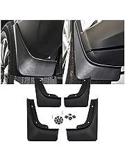 SHAOHAO Juego de 4 guardabarros compatibles con Nissan Qashqai J11 2014 + guardabarros de goma delantero y trasero