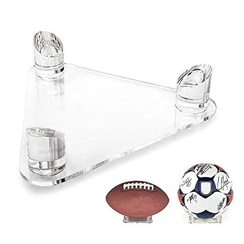 Soporte de bola de acrílico - Estante de exhibición de almacenamiento de bolas deportivas para baloncesto, fútbol, voleibol, fútbol, rugby