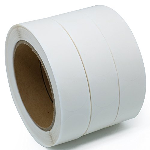 "Hybsk(TM) Clear Retail Package Seals 1"" Round Circle Wafer Stickers/Labels 1,000 Per Roll (3 roll)"