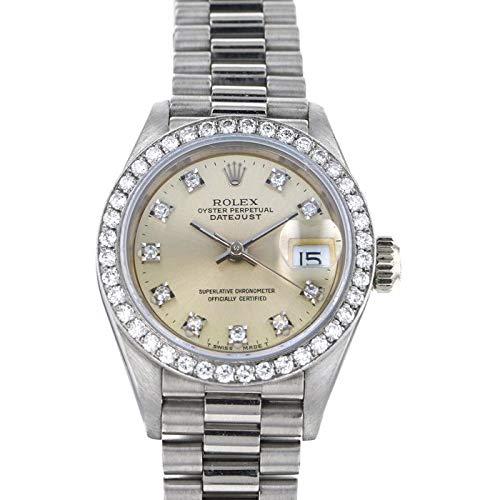 ロレックス ROLEX デイトジャスト 69139G シルバー文字盤 中古 腕時計 レディース (W165779) [並行輸入品]