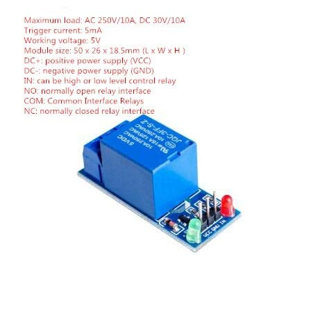 1PCS 5V 1 One Channel Relay Module Low Level for SCM Household Appliance Control for arduino DIY Kit