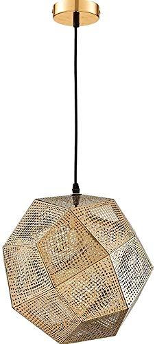 Vinteen E27 Acero inoxidable Bola de múltiples facetas Multi-facetas Colgantes Lámparas Barras de barra de tela de metal Restaurante Luz de techo Lámpara de techo para sala de estar Decoración de coci