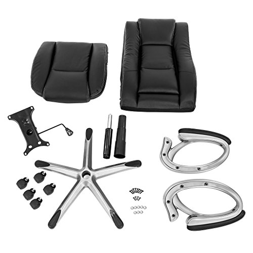 LANGRIA High-Back Executive Office Chair Black Faux Leather Computer Chair, Modern and Ergonomic Design, Well-Padded Armrests, Adjustable Seat Height, Knee Tilt Mechanism, 360 Degree Swivel, LROC-7263 Photo #3