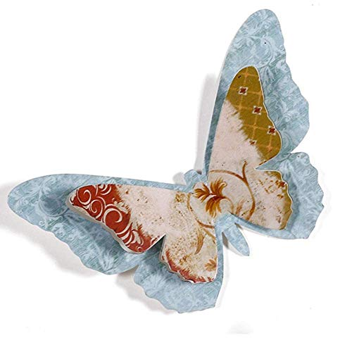 ZHENAO Artwork Wall Butterfly Wall Decor,3D Wall Decals Art Emboss,A Variety of Styles-for Room Home Nursery Classroom Offices Kids Girl Boy Bedroom Ready to Hang Holiday Gift/A