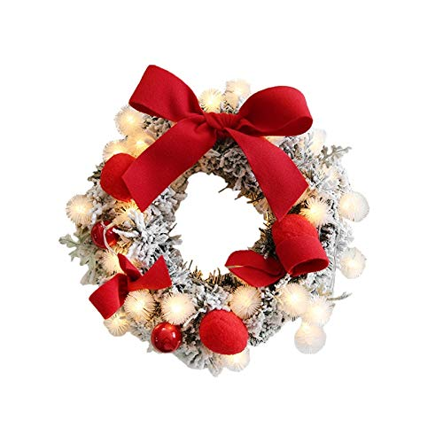 UXZDX CUJUX Hot Christmas Wreath New Year Window Door Decoration Props Scene Arrangement Christmas Wreath Decorations (Size : Style 1)