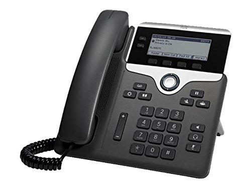 Cisco 7821 - Teléfono IP (Negro, Plata, Terminal con conexión por Cable, Digital, Escritorio/Pared, Policarbonato, 396 x 162 Pixeles)