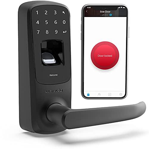 Cerradura inteligente ULTRALOQ UL3 BT, cerradura de puerta inteligente con Bluetooth, huella dactilar biométrica y teclado digital táctil