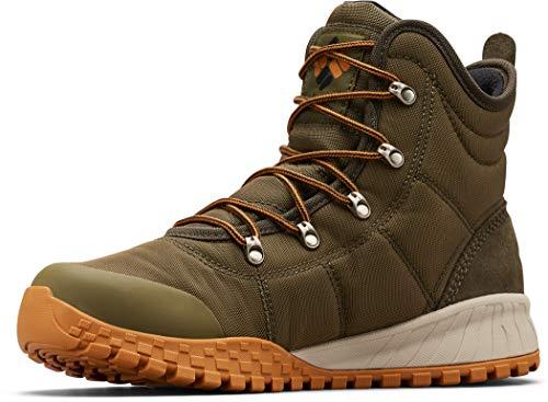 Columbia Men's Fairbanks Omni-Heat Snow Boot, nori, Canyon Gold, 10.5 Regular US