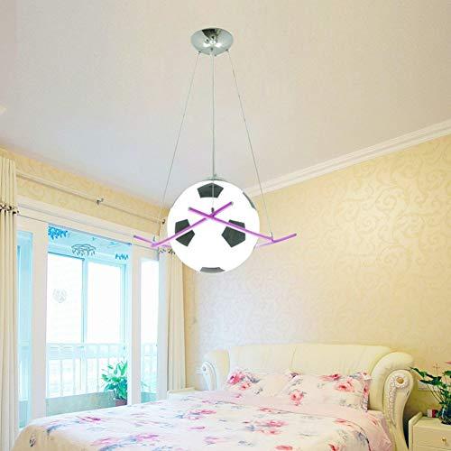Z-ZH Kreative Glaskugel Lampenschirm Basketball Fußball Cartoon Kinderzimmer Kronleuchter LED Schlafzimmer Lampen