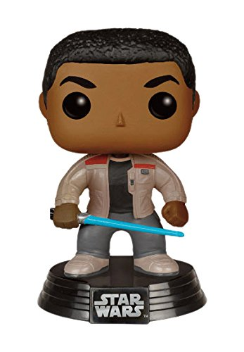 Funko FK 6422 - Pop! Star Wars The Force Despierta: Finn Sable de luz con la Figura de Vinilo, 10 cm