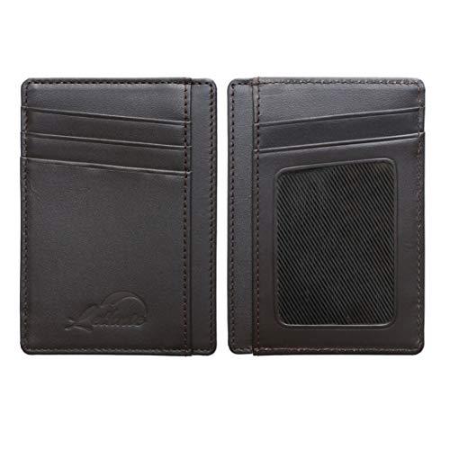 Lethnic Slim Wallet RFID Front Pocket Minimalist Wallet