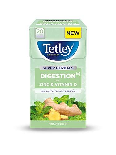 Tetley Super Herbal Digestion 20 Tea Bags Per Box (4 Boxes)