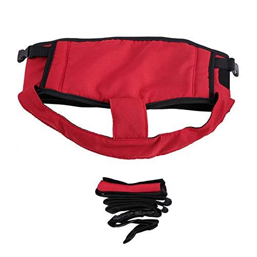 Imagen para Portátil silla de asiento,Portátil ajustable de seguridad silla de alimentación,portátil silla de asiento silla de comedor de correa cinturón de seguridad Trona (Red)