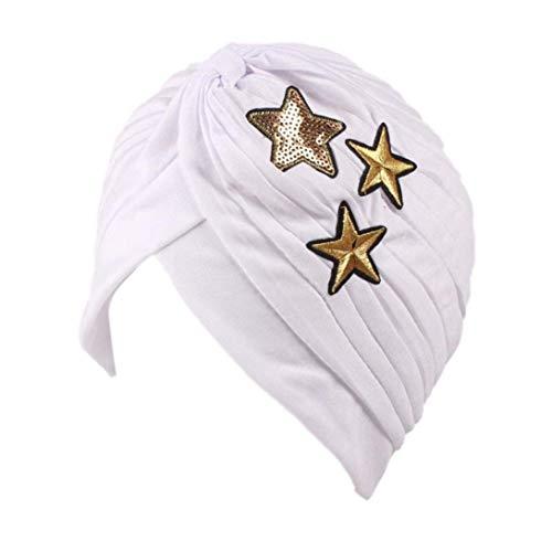 Saoye Fashion Cáncer De La Mujer Quimioterapia Higiene Alopecia Maquillaje Moda Sombrero Fácil De Igualar Pliegue Elástico Turbante Negro Amarillo Rosa Azul Púrpura con Estrellas