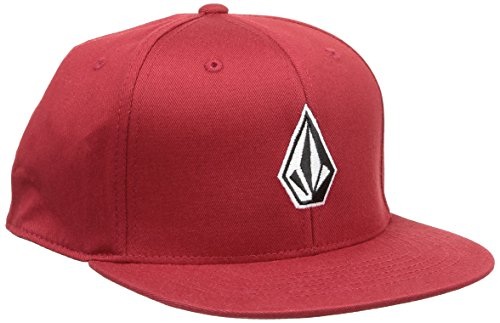 Volcom Full Stone 110 Snapback casquette de Baseball Homme, Rouge (Drip Red), Fabricant: Taille Unique