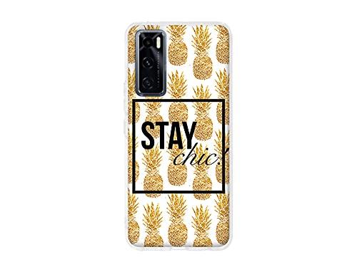 etuo Hülle für Vivo Y70 - Hülle Design Hülle - Gold Ananas - Handyhülle Schutzhülle Etui Hülle Hülle Cover Tasche für Handy