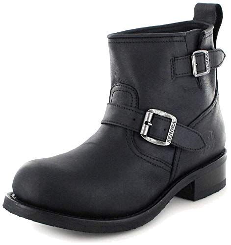 Sendra Boots 11973, Boots biker mixte adulte - Noir - Noir, 39 EU