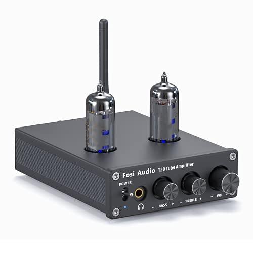 Fosi Audio T20 - Bluetooth Tubolare Amplificatore,Ricevitore Stereo di Classe D a 2 Canali, Mini Integrato HIFI Preamplificatore, per Altoparlanti Passivi Domestici Cuffie Compatte