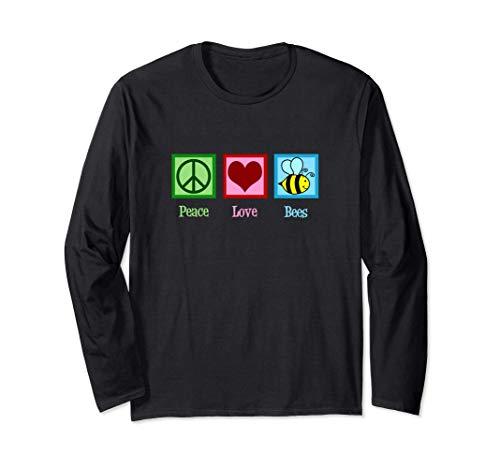 Peace Love Bees Paz Amor Abejas Manga Larga