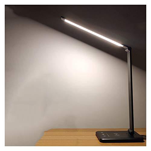 HXXB Luz USB 52pcs LED lámpara de Escritorio 5 Tono de la luz del Tacto de Carga USB Protección de los Ojos de Lectura con Temporizador lámpara de Escritorio de luz de la Noche Luz de Noche
