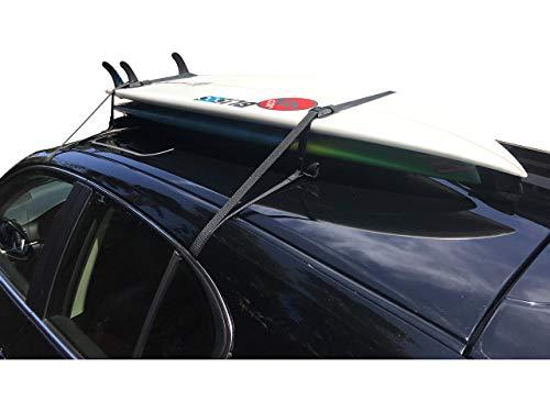 COR Surf Barres de toit souples Universelles pour planches de surf et paddles — avec housse de rangement.