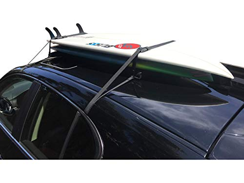 Universal Car Surfboard Soft Roof Rack Pad | Up to Two Surf Boards | with Storage Bag (19 Inches)