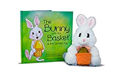 The Bunny with the Basket book and stuffed animal