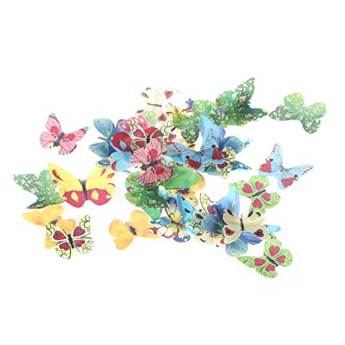 VORCOOL 40 adornos comestibles de papel de gofre con mariposas para cupcakes,...