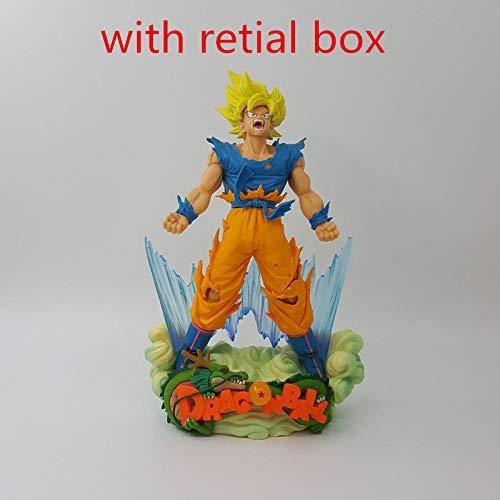 Rqcaxp Vinyl Figur Sammlerstück Drachensohn Goku Figur MSP Super Saiyajin Die Pinsel Figur PVC Drache Actionfigur Z Spielzeug Geschenk-Grau Ca. 24cm, Kinder Erwachsene und Anime-Fans