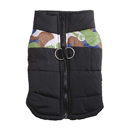 Qyeeypoc Huisdier Winter Warm Hond Jas, Ski Suit, Half Camouflage Met Rits Gecapitonneerde Jas, Hond Jas, M