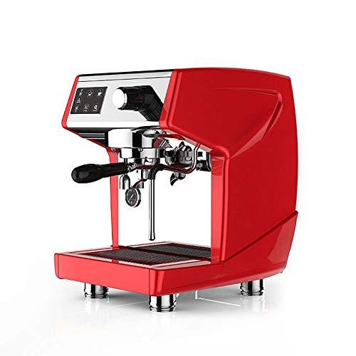 ETH Cafetera Italiana De Doble Cabezal con Aislamiento Automático Bomba Semiautomática Doméstica Y Comercial Máquina De Espresso De Vapor Ordeño Equipo De Cafetería 300 * 420 * 500 Mm (Rojo) Elegante