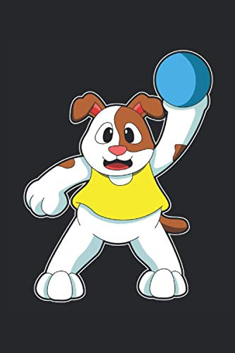 Handball Notizbuch, 120 Seiten: Hund - Geschenke - Handball Notizbuch - Tagebuch für Frauen, Männer und Kinder - Punktraster