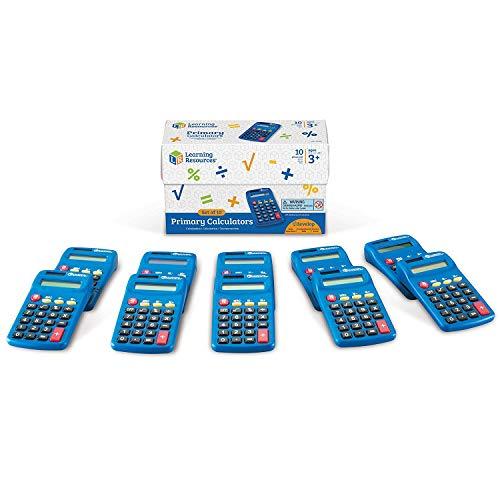 Learning Resources LER0038 Primary Calculator – Taschenrechner für die Grundschule (Set mit 10Stück)