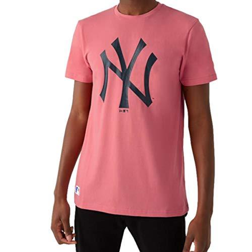 New Era MLB NEW YORK YANKEES Seasonal Pink Team Logo Tee T-Shirt, Größe:M