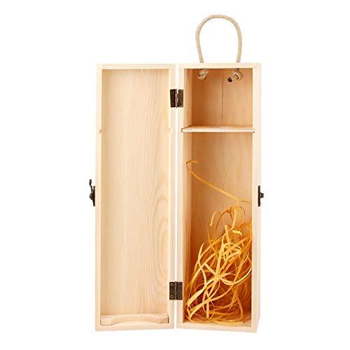 Caja de Almacenamiento de Vino, Caja de Regalo de Vino Retro Material de Madera Durable 13.8x3.9x3.9in para Amantes del Vino