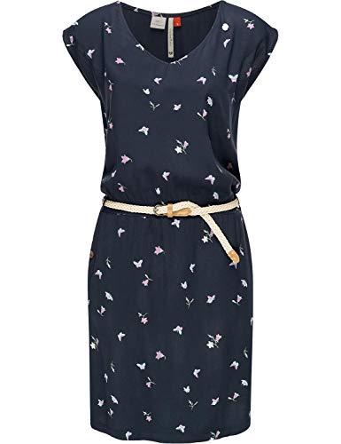 Ragwear Damen Kleid Dress Sommerkleid Strandkleid Jerseykleid Freizeitkleid Carolina Navy20 Gr. M