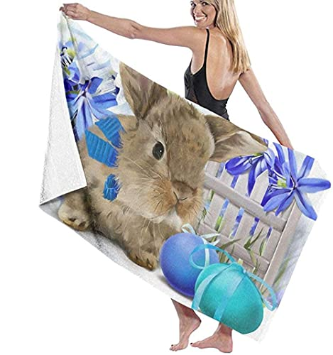 ULNIKU-T Happy Easter Baño Toallas Microfiber Quick Dry Super Suave Water Absorption Playa Toallas Suitable For Children and Adults Travel Yoga Natación and Cámping 80X130Cm