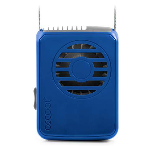 O2COOL o2-Cool fn02001Deluxe Collar Ventilador, Azul Oscuro