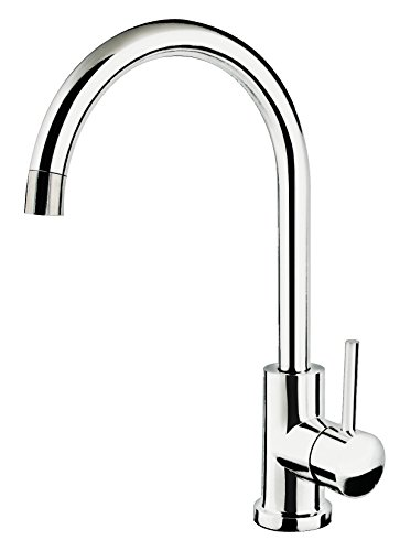 Soleil SS805CP Stainless Steel Single Handle Gooseneck Kitchen Faucet